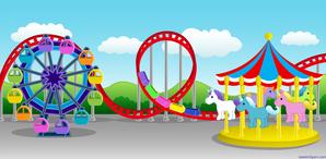 Carnival-Amusement-Park-Setting-Clip-Art
