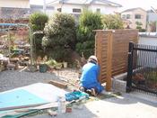 木柵施工状況