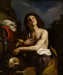 グエルチーノ《ゴリアテの首を持つダヴィデ》
