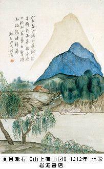 夏目漱石山水画
