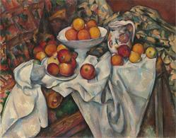 《りんごとオレンジ》セザンヌ