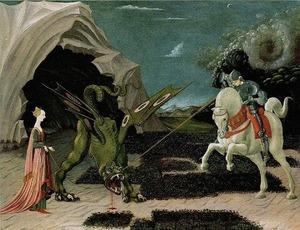 ウッチェロ《聖ゲオルギウスと竜》