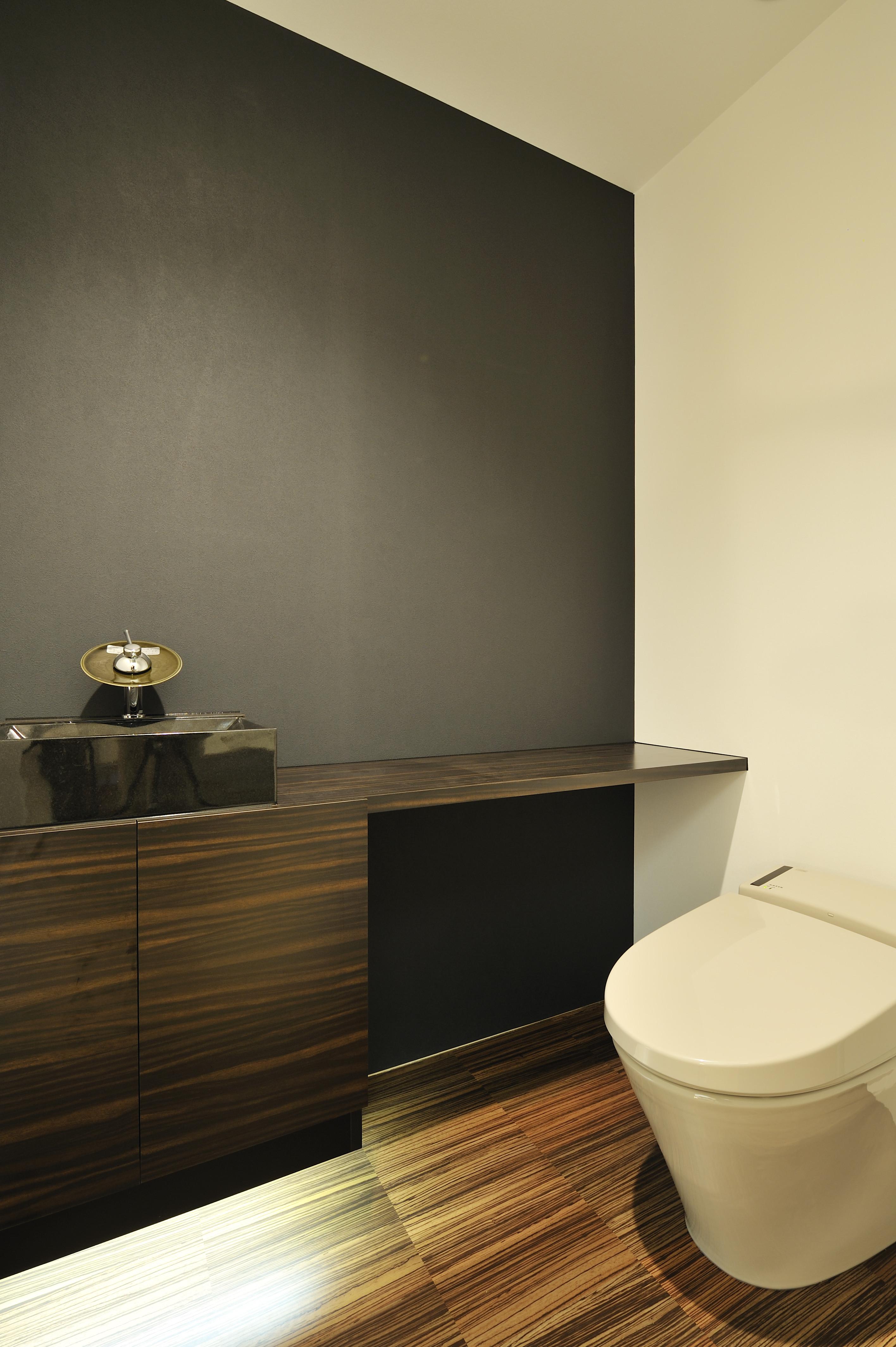 Wood Bathroom Toilet