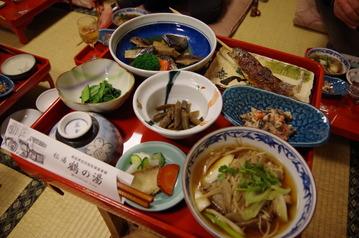 IMGP3358鶴の湯2泊目夕食