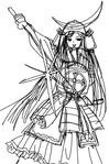 戦国美少女ラフ進化後