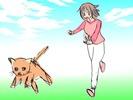 夢占い猫ラフ
