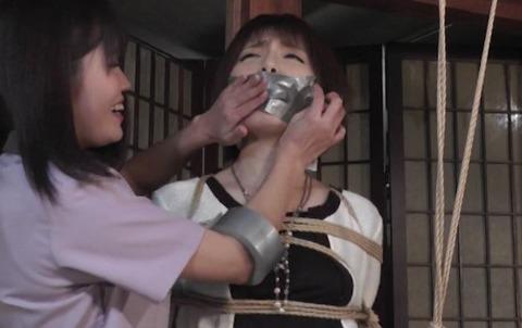 セレブ嬢が縛られ多重猿轡をされて監禁される動画