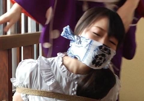 羽月希さんの猿轡をされた顔が可愛い!