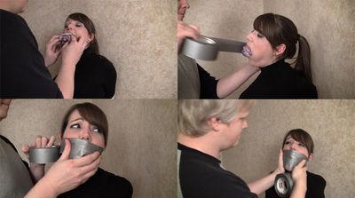 猿轡による強制窒息プレイ