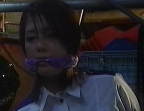 逮捕しちゃうぞの吉岡美穂さんの猿轡シーン