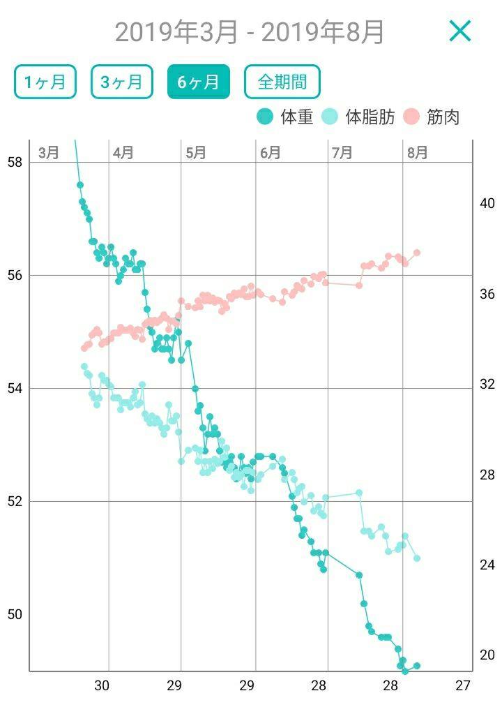ダイエット 停滞 期 グラフ