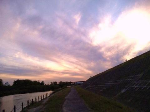 ジョギング夕方