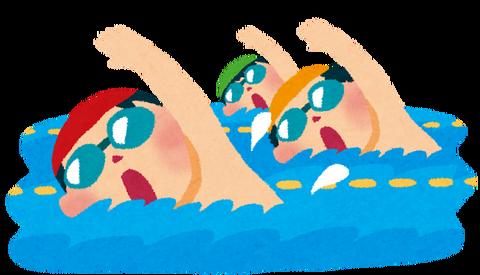 週2で5km泳いだら普通痩せる?
