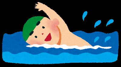 週2で水泳やってるのに腹筋が割れない…