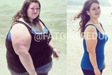 【衝撃画像】2年で138kgダイエットした女性!夫と二人三脚で運動と食生活改善
