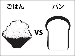 ご飯vsパン