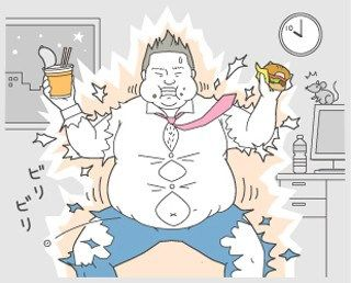 夜遅い食事で太る
