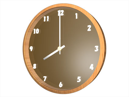 時計(8時)