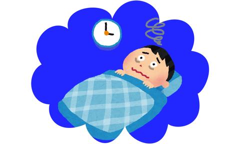ワイ、睡眠障害の可能性有りで咽び泣く