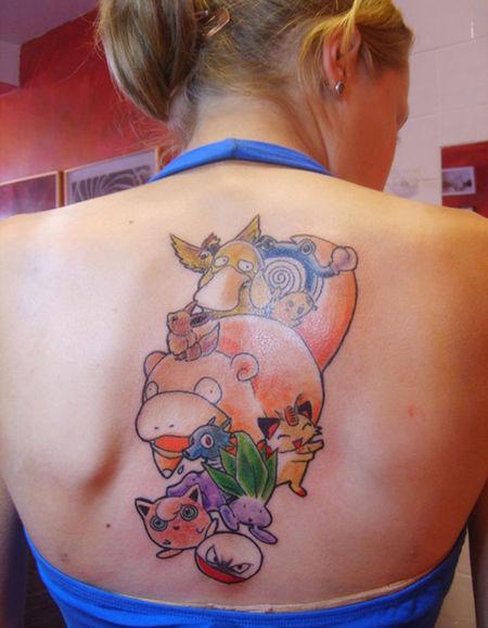 【刺青】ポケモンのタトゥーを入れてしまった大人たち(画像29枚)