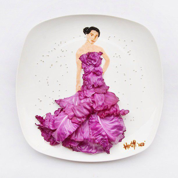 食材で描くアートの画像