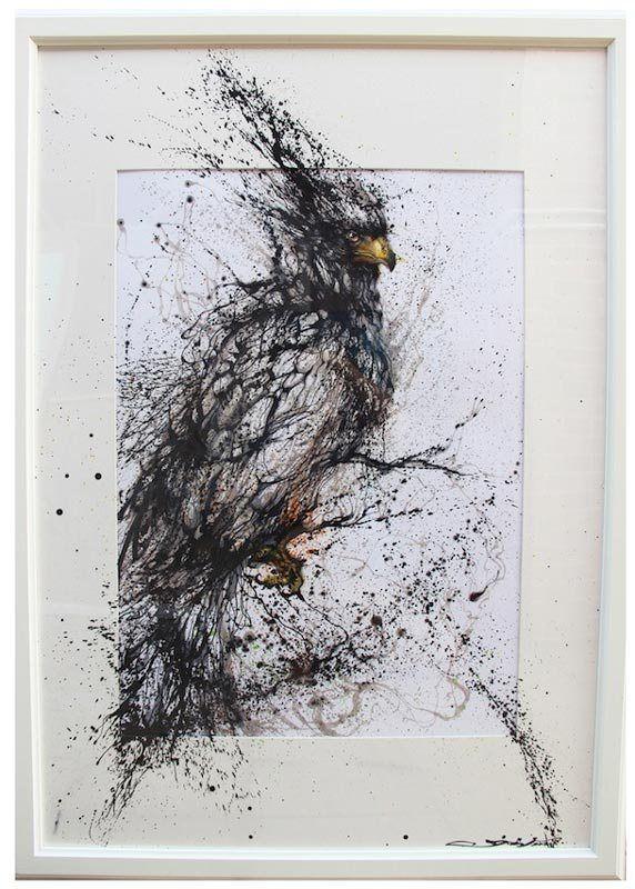 飛沫アートの画像