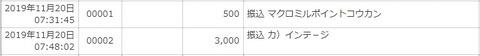 ポイントサイト入金_191120
