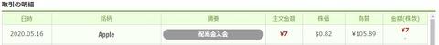 ワンタップバイ米国株_配当_200516
