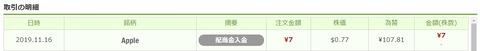 ワンタップバイ米国株_配当_191116