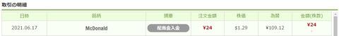 ワンタップバイ米国株_配当_210617