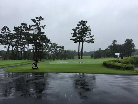 龍ヶ崎CCラウンド(3rd)メモ|局地的豪雨で撤退