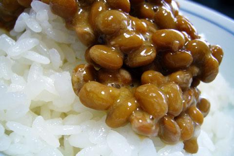 金山納豆とご飯
