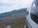 グライダーから曳航機&白山