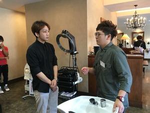 神戸理容美容専門学校の理容科の皆さんが研修へ。