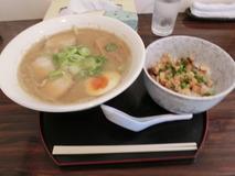 麺屋ひろ 煮干し中華(味噌)+ミニ炙りチャーシュー丼
