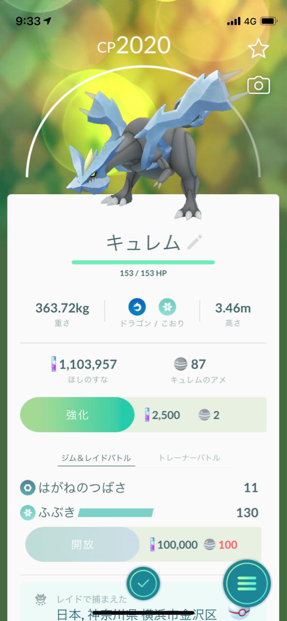 キュレム2人撃破!メガユキノオー!カロス地方! : ポケモンGOプレイ ...