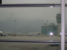香港のかすむ山