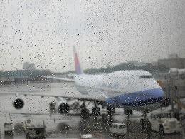 台北行きCI101便