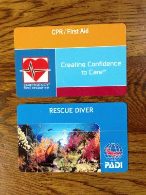 PADI RESCUE C-Card
