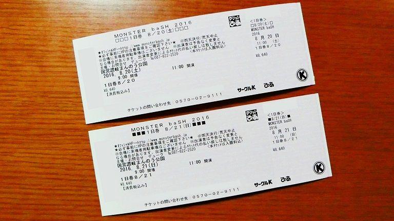 チケットのコピー