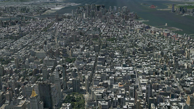 3Dでマチナカ俯瞰、OVI MAPS