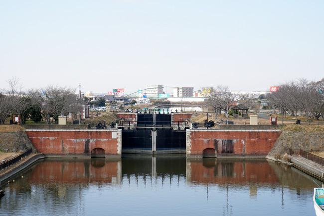 横利根閘門と水郷地帯とか:ちばらぎ旅行記 5/x