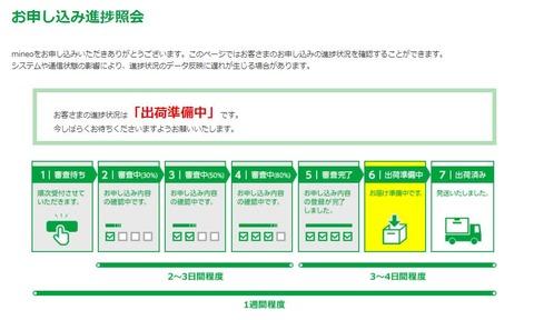 マイネオお申込み進捗紹介3