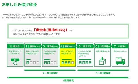 マイネオお申込み進捗紹介2