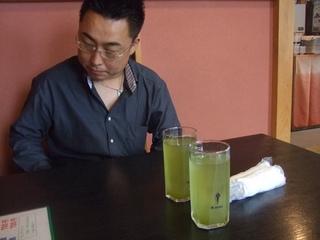 のぶ山さんとアイス緑茶