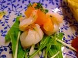 壺焼亭・セットの前菜(エビ)