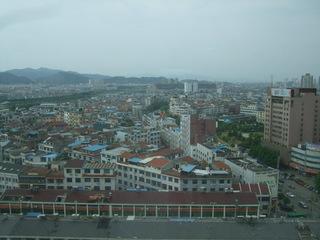 ホテルから見た風景