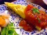壺焼亭・セットの前菜(オムレツ)