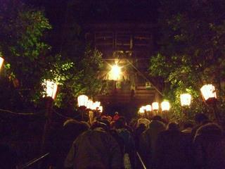 少林山達磨寺・階段のぼり中