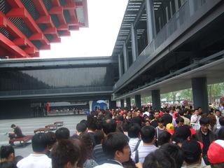 中国館の行列